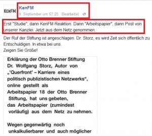 Ausschnitt aus Bildzitat Screenshot Facebook KenFM am 08.09.2015