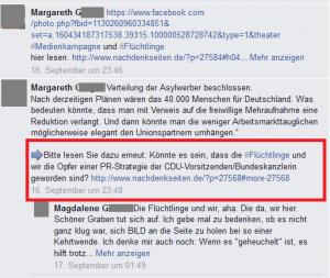 """Ausschnitt aus Bildzitat Screenshot Facebook """"Mann, Sieber!"""""""