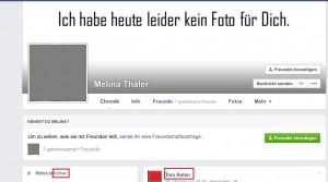 "Bildzitat Screenshot Facebook ""Melina Thaler"" alias Melina W."
