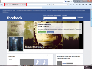 "Bildzitat Screenshot Facebook Account ""Gabriel Rothschild"" i. e. Julian Konopka (= verantwortlicher Denkfunk-Redakteur)"
