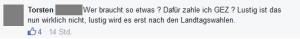 """Ausschnitt (anoymisiert) aus Bildzitat Screenshot Facebook """"Mann, Sieber!"""""""