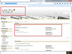 Bildzitat Screenshot des Verbands südwestdeutscher Zeitungsverleger e. V.
