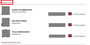 Ausschnitt aus Bildzitat Screenshot Schwäbische Zeitung, Redaktion Tettnang