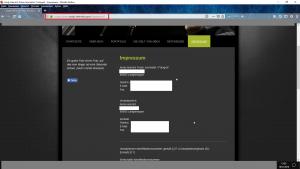 Bildzitat Screenshot Impressum Homepage Andy Heinrich (Zum Schutz der Persönlichkeitsrechte des Fotografen wurden alle relevanten Daten unkenntlich gemacht)