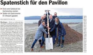 """Bildzitat Screenshot ex Blog BÜB+ 13.03.2019 ex Südkurier 11.03.2019: """"Spatenstich für den Paviilon"""""""