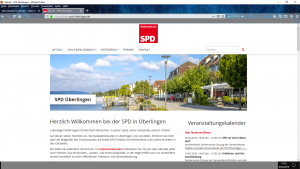 Bildzitat Screenshot Homepage der SPD Überlingen