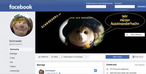 Bildzitat Screenshot Schroeder auf Facebook