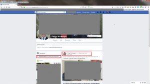 Bildzitat (bearbeiteter) Screenshot privater FB-Account von Bürgermeister Philip Schwaiger: Dort finden sich aktuelle Beiträge - unter anderem sofort der Verweis auf den kritiklosen Jubelartikel in der SZ! (Die Fotos wurden zum Schutz der Urheberrechte unkenntlich gemacht.)