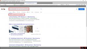 """Wie will man später vor Gericht - und damit muss ich bei meiner Berichterstattung über die Gärtnerei Knam und den Maschinenring Tettnag ja inzwischen rechnen - beweisen, dass sich zum Zeitpunkt der Recherche auf der MR-Webseite keine Angaben zu dem """"Dienstleistungsangebot"""" der """"Vermittlung von Saisonarbeitskräften"""" findet? Die einzige Möglichkeit dazu scheint mir die über den Google-Suchbefehl: """"Saisonarbeitskräfte site: maschinenring.de/tettnang"""". Und der wirft für die gesamte Webseite bei ohnehin nur 3 Treffern lediglich das Angebot der Lohnbuchhaltung aus."""