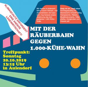 Plakat Veranstaltungsankündigung der Initiative gegen den 1.000-Kühe-Stall in Ostrach, Ravensburg