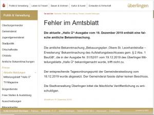 Ausschnitt aus Bildzitat Screenshot Webseite der Stadt Überlingen