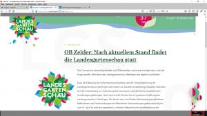 Bildzitat (bearbeitet) Screenshot der Homepage der Landgartenschau Überlingen 2020 GmbH zum Thema Corona am 17.03.2020!!! Ich hoffe, das Überlinger Stadtarchiv archiviert dieses Dokument. Es ist von zeitgeschichtlicher Bedeutung für die kapitale Fehleinschätzung eines Oberbürgermeisters angesichts einer globalen Katastrophe.